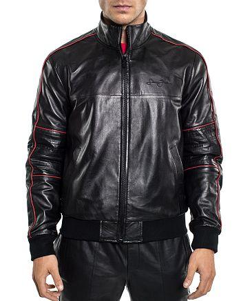 Sean John - Leather Bomber Jacket
