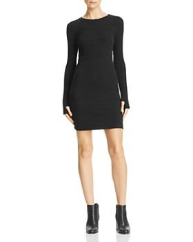 LNA - Rib-Knit Sweater Dress