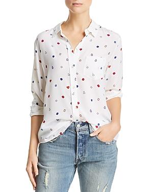 Rails Kate Gemstone Print Silk Shirt
