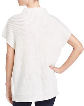 Kenneth Cole - Short-Sleeve Funnel-Neck Chunky Sweater
