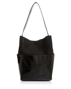 Aqua Large Croc-Embossed Tote - 100% Exclusive