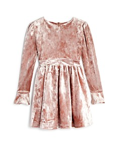 Bardot Junior - Girls' Crushed Velvet Bow Dress - Little Kid