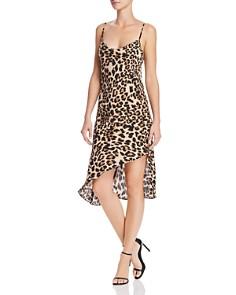 Amanda Uprichard - Ansonia Leopard Print Slip Dress