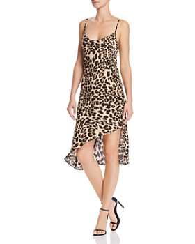 Amanda Uprichard - Ansonia Leopard Print Slip Dress