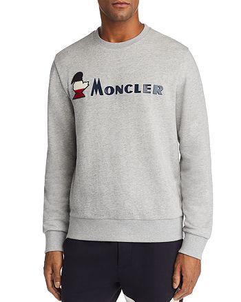 Moncler - Rubberized-Logo Crewneck Sweatshirt