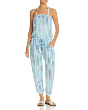 Coolchange Brooke Tehani Stripe Jumpsuit Swim Cover-Up