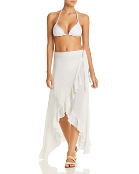 Echo - Ruffle Wrap Skirt Swim Cover-Up