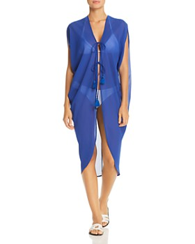 c5252def098f4 Echo - Cowl Side Swim Cover-Up ...