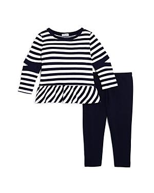 Splendid Girls Striped Cutout Sweatshirt  Leggings Set  Baby