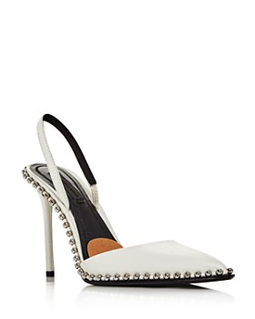 Alexander Wang - Women's Rina Studded Leather Slingback Pumps