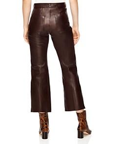 Sandro - Boreales Leather Crop Pants