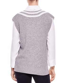 Sandro - Tabby Striped Sweater Vest