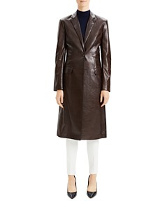 Theory - Varnished Leather Coat