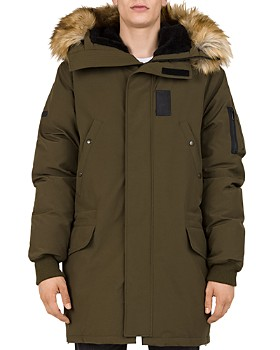 The Kooples - Mixed-Media Puffa Parka Jacket