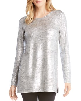 Karen Kane - Metallic Knit Tunic