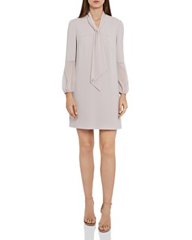 REISS - Ronda Tie-Neck Shift Dress