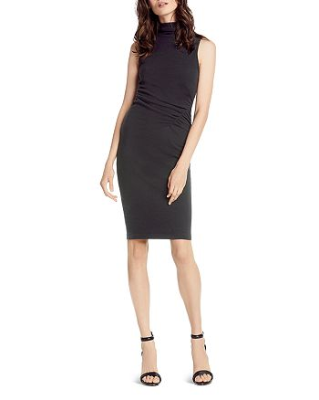 Michael Stars - Ruched Mock Neck Dress