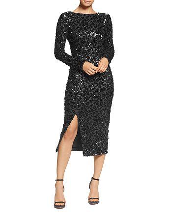 Dress the Population - Natalie Sequin V Back Dress