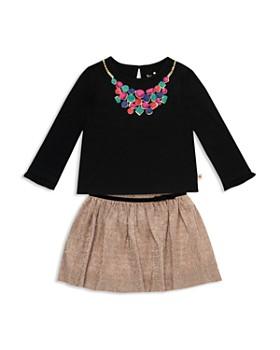 kate spade new york - Girls' Metallic Knit Skirt Set - Baby