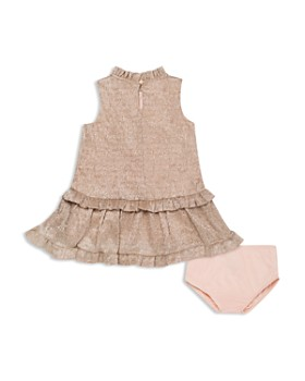 kate spade new york - Girls' Metallic Ruffle Dress - Baby
