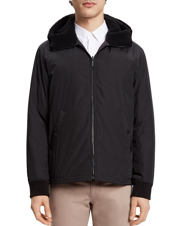Theory - Vernon Faux Shearling-Trimmed Bomber Jacket