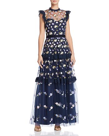 22cfa533bffc AQUA - Embroidered Maxi Dress - 100% Exclusive