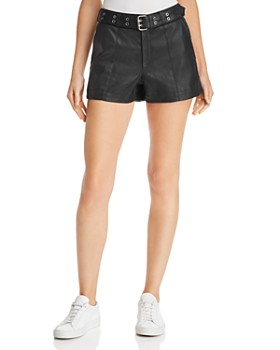 Hudson - Belted Leather Shorts