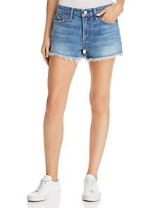 7 For All Mankind - Cutoff Denim Shorts in Desert Oasis