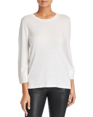 LE GALI Isabella Sequin-Cuff Sweater - 100% Exclusive in Ivory