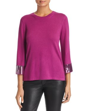 LE GALI Isabella Sequin-Cuff Sweater - 100% Exclusive in Orchid Pink