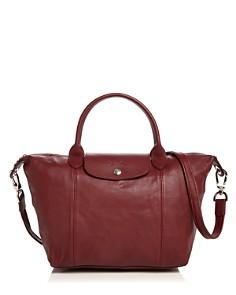 Longchamp - Le Pliage Small Leather Satchel