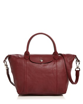 54e808c00a Longchamp - Le Pliage Small Leather Satchel ...