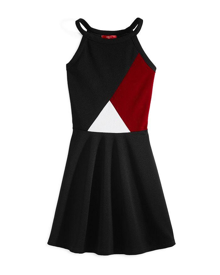 AQUA - Girls' Textured Color-Block Dress, Big Kid - 100% Exclusive