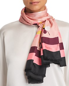 kate spade new york - Dusk Bud Floral Silk Oblong Scarf