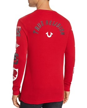 True Religion - Varsity Logo-Print Thermal Shirt