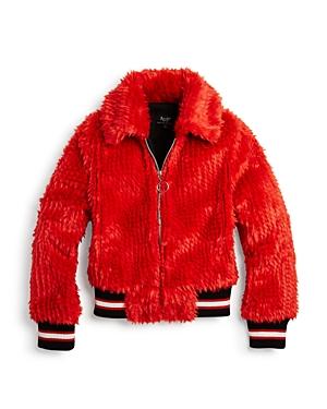 Bardot Junior Girls' Queenie Faux-Fur Bomber Jacket - Little Kid