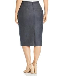 Marina Rinaldi - Candore Stretch-Wool & Silk Pencil Skirt