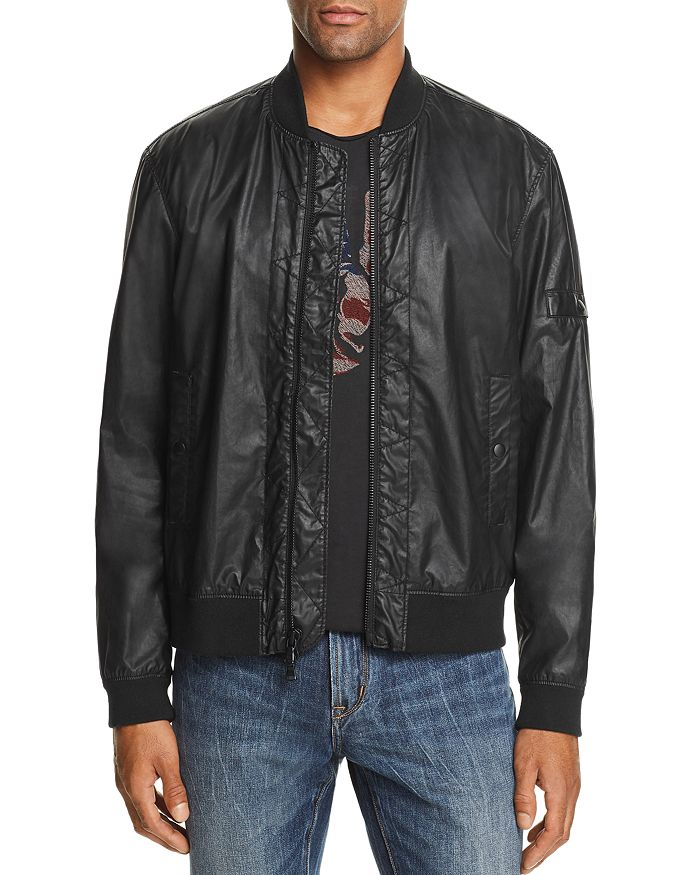 John Varvatos Star USA - Coated Bomber Jacket