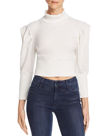 Free People - Lala Puff-Sleeve Cropped Top