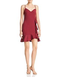 AQUA - Ruffle Mini Dress - 100% Exclusive