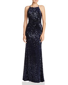 AQUA - Sequined Velvet Gown - 100% Exclusive