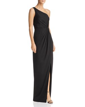BARIANO Draped One-Shoulder Gown - 100% Exclusive in Black
