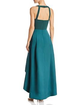 Eliza J - High/Low Color-Block Gown