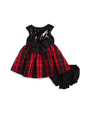Pippa & Julie Girls' Sequin & Plaid Dress with Bloomers - Baby