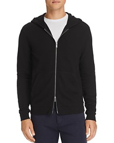Theory - Essential Zip-Front Waffle-Knit Hoodie
