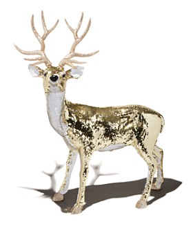 bloomingdales large sequined deer decor - Christmas Deer Decor