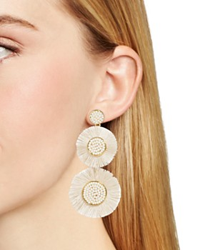 BAUBLEBAR - Mariette Fringed Discs Drop Earrings