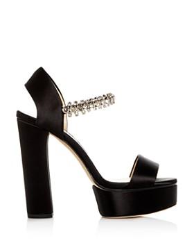 Jimmy Choo - Women's Santina 125 Embellished High Block-Heel Platform Sandals