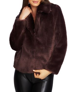 1.state Faux Fur Cropped Jacket