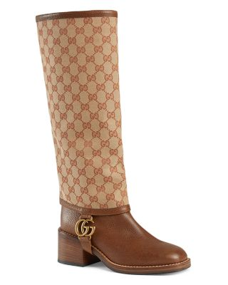 Lola Leather Boots with GG Gaiter
